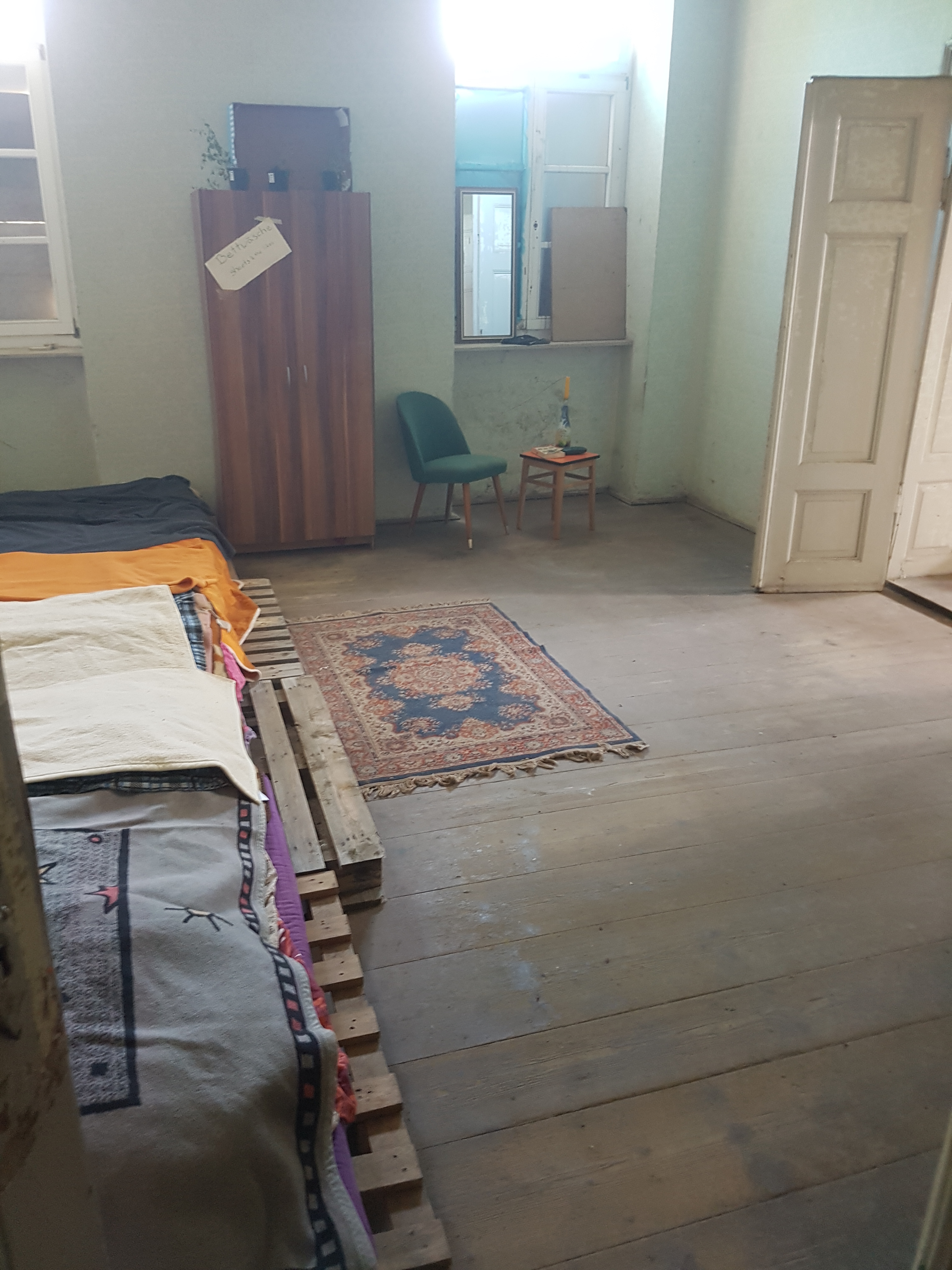 Sleeping room on ground floor